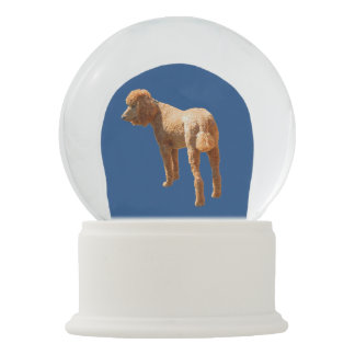 RED POODLE IN THE SNOW SNOW GLOBES