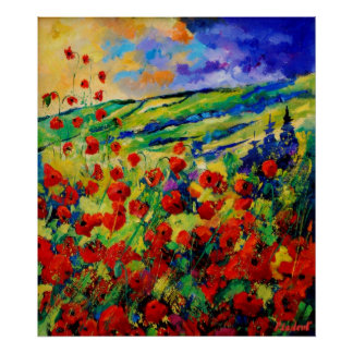Red poppies 78 poster