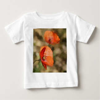 Red poppies baby T-Shirt