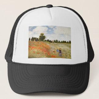 Red Poppies Blooming - Claude Monet Trucker Hat