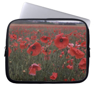 red poppies electronics bag computer sleeves