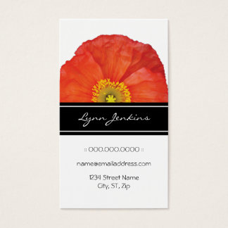 Red Poppies Elegant Business Card