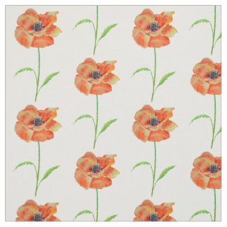 Red Poppies Fabric