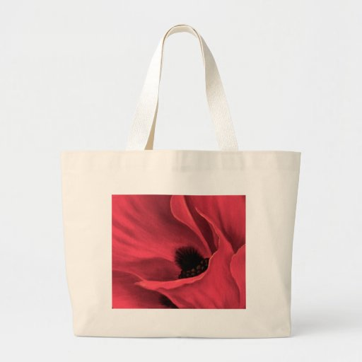 Red Poppies Flower Art Painting - Multi Jumbo Tote Bag