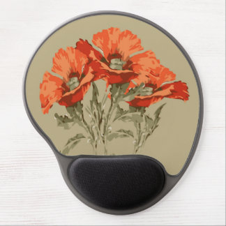 Red Poppies Gel Mouse Pad
