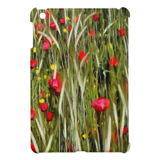 Red Poppies In A Cornfield Case For The iPad Mini
