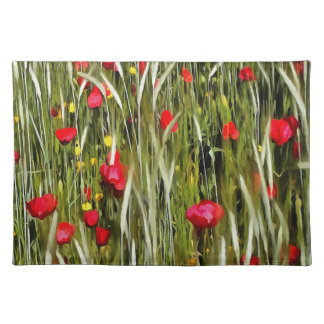 Red Poppies In A Cornfield Placemat