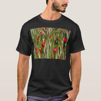 Red Poppies In A Cornfield T-Shirt
