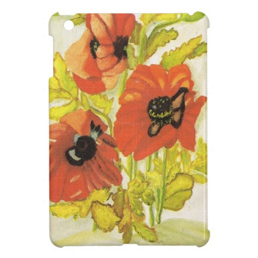 Red poppies iPad mini case