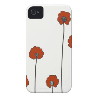 red poppies iPhone 4 Case-Mate case