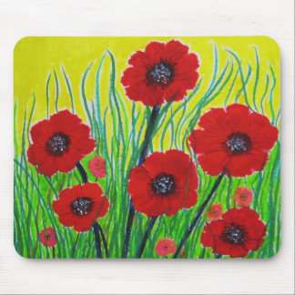 Red Poppies Mouse Pad