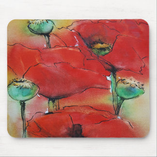 Red Poppies Mousepads
