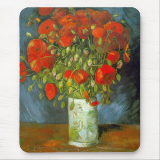 Red Poppies Mouse Pads