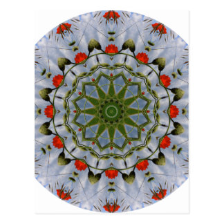 Red Poppies Nature, Flower-Mandala Postcard
