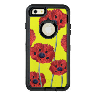 Red Poppies On Yellow OtterBox Defender iPhone Case