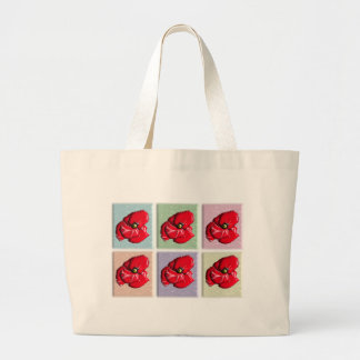 Red Poppies Pastel - Tote Bag