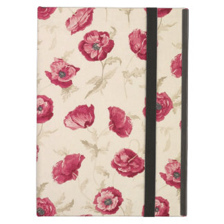 Red poppies pattern ipad case