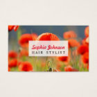 Red Poppies Poppy Flowers  Blue Sky Business Card