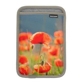 Red Poppies Poppy Flowers Blue Sky iPad Mini Sleeve