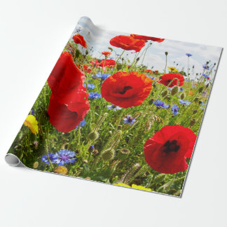 Red Poppies. Wrapping Paper