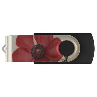 Red Poppy And The Bug USB Flash Drive