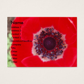 Red Poppy Business Card