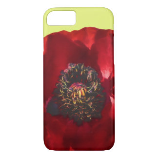 Red Poppy Classic Chic Elegant Floral Photo iPhone 8/7 Case