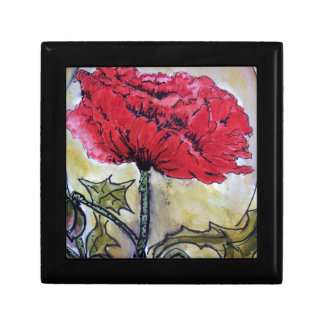 Red Poppy Design Jewellry Box
