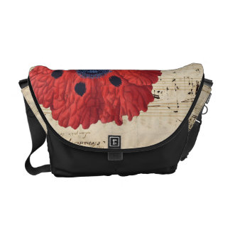 red poppy dream commuter bags