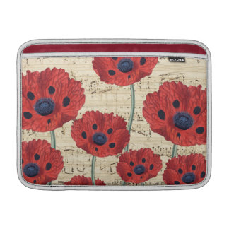 red poppy dream sleeve for MacBook air