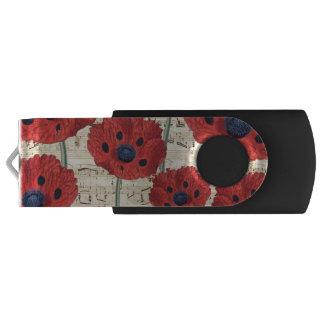 red poppy dream USB flash drive