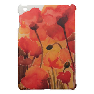 Red Poppy Field Case For The iPad Mini