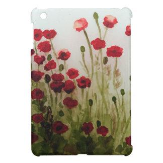 Red Poppy Field Case iPad Mini Covers