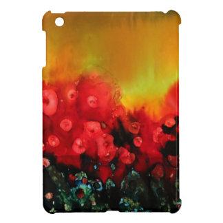 Red poppy field iPad mini covers