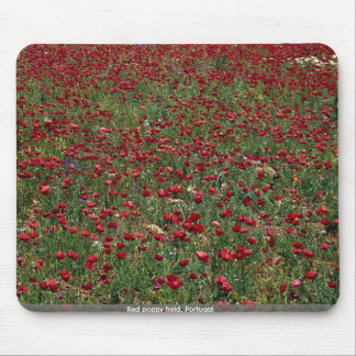 Red poppy field, Portugal Mousepad