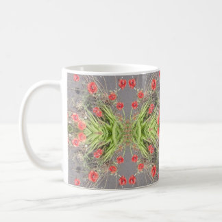 Red Poppy Flower Photo Fractal Classic Mug