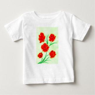 Red Poppy Flowers Baby T-Shirt
