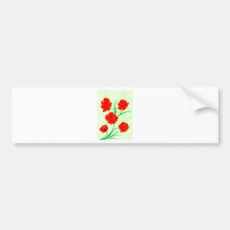 Red Poppy Flowers Bumper Sticker