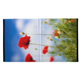 Red Poppy Flowers iPad Cases