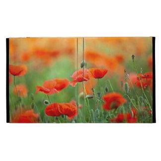 Red Poppy Flowers iPad Folio Cover