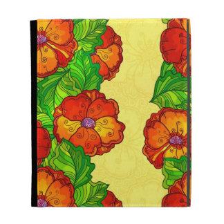 Red poppy flowers case iPad folio covers