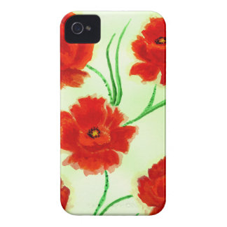 Red Poppy Flowers iPhone 4 Cases