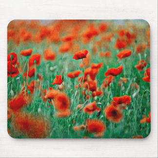 Red Poppy Flowers Mousepad