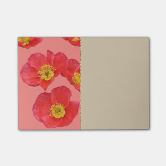 Red Poppy Flowers Post-it Notes