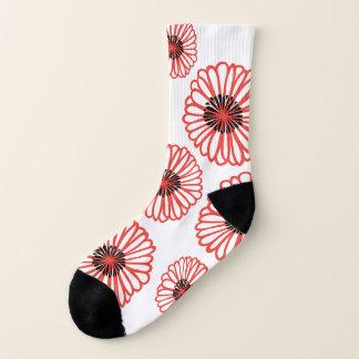 Red Poppy flowers Socks