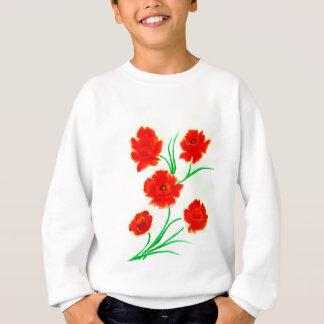 Red Poppy Flowers Sweatshirt