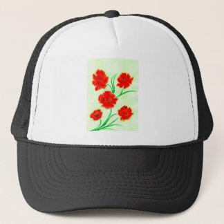 Red Poppy Flowers Trucker Hat