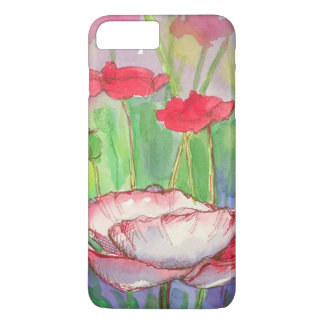 Red Poppy Flowers Watercolor iPhone 8 Plus/7 Plus Case