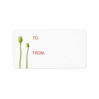Red Poppy Gift Tag Address Label