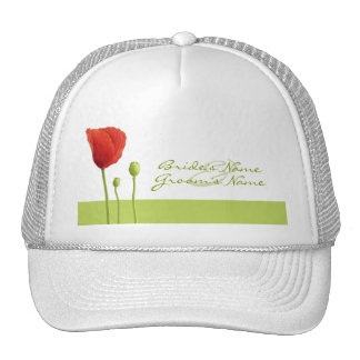 Red Poppy lime Hat